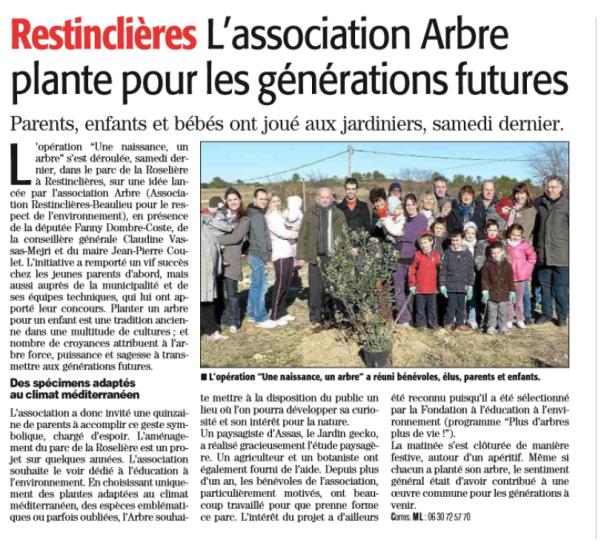 Midi Libre 12-12-2013 A.R.B.R.E.