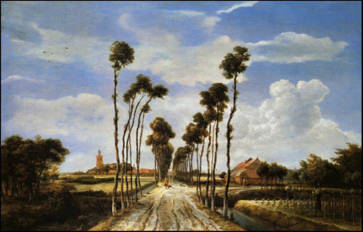 meindert-hobbema-le-chemin-de-middelharnis-1689