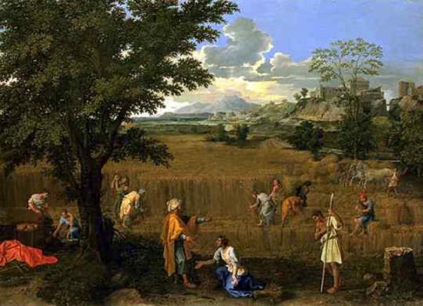 Poussin – Ruth et Booz ou l'été 1660-1664.png